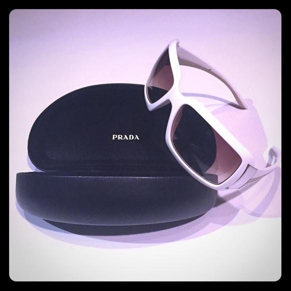 Prada Genuine Sunglasses - White Gold and Havana